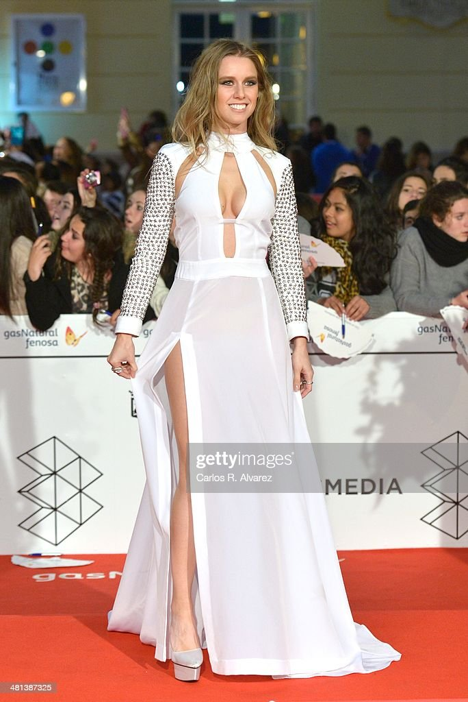 Spanish actress Manuela Velles attends the 17th Malaga Film Festival 2014 closing ceremony at the Cervantes Theater on March 29, 2014 in Malaga, Spain.