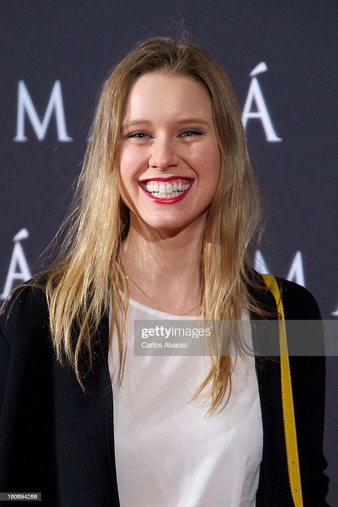 Spanish actress Manuela Velles attends the 'Mama' premiere at the Callao cinema on February 4, 2013 in Madrid, Spain.