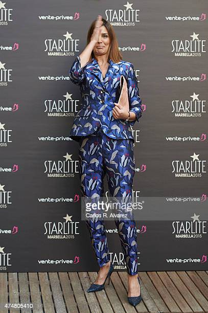 Spanish actress Mar Flores attends the 'Pure Starlite' party presentation at the Hotel Puro on May 26 2015 in Madrid Spain