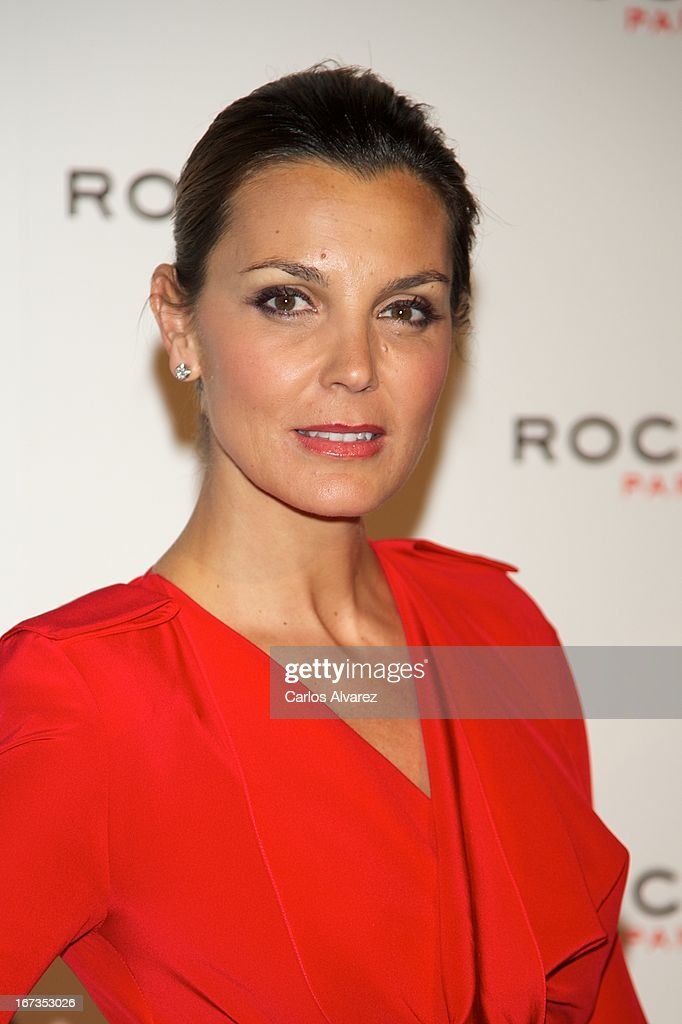 Spanish actress Mar Flores attends the Rochas event at the French embassy on April 24, 2013 in Madrid, Spain.