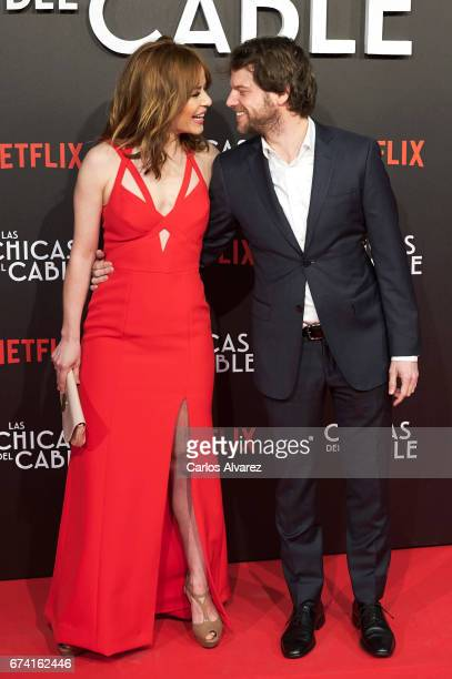 Spanish actress Maria Adanez and Nacho Medrano attend 'Las Chicas Del Cable' premiere at the Callao cinema on April 27 2017 in Madrid Spain