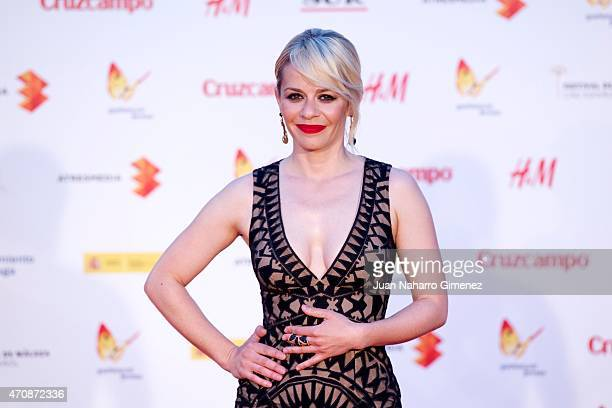 Spanish actress Maria Adanez attends the 'A Cambio de Nada' premiere at the Cervantes Theater during the 18th Malaga Film Festival on April 23 2015...