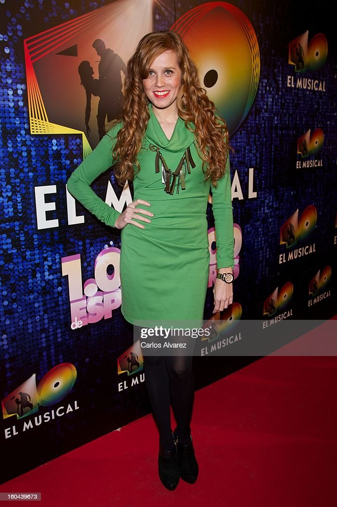 Spanish actress Maria Castro attends '40 El Musical' premiere at the Rialto Theater on January 31, 2013 in Madrid, Spain.
