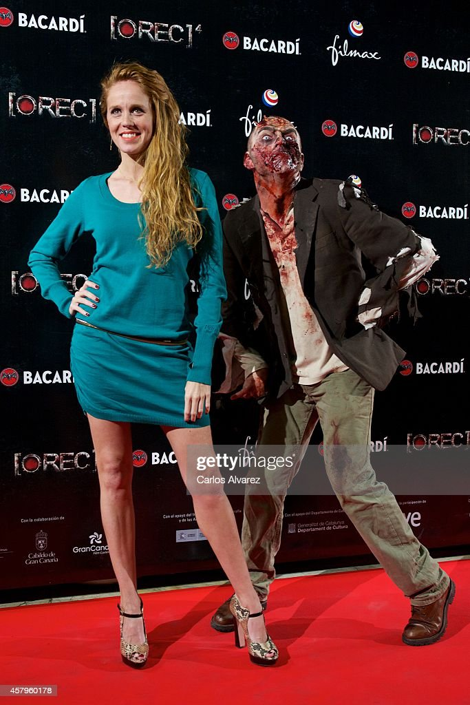Spanish actress <a gi-track='captionPersonalityLinkClicked' href=/galleries/search?phrase=Maria+Castro&family=editorial&specificpeople=3626635 ng-click='$event.stopPropagation()'>Maria Castro</a> attends the 'REC 4' premiere at the Capitol cinema on October 27, 2014 in Madrid, Spain.