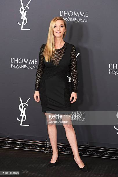 Spanish actress Maria Esteve attends Yves St Laurent Beauty cocktail party on February 29 2016 in Madrid Spain
