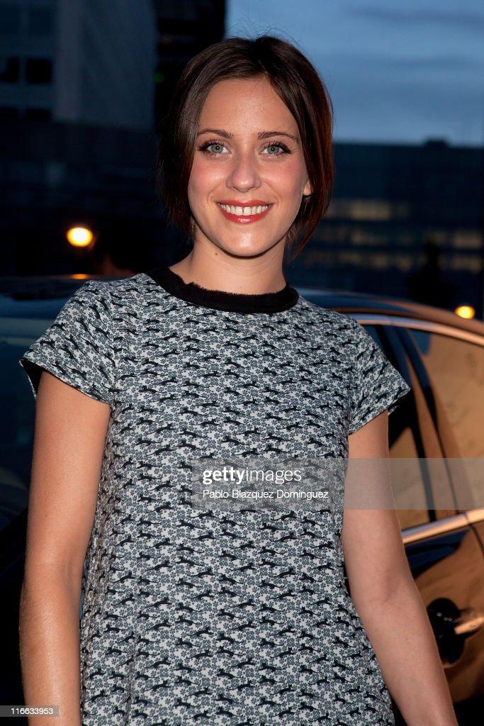 Spanish actress Maria Leon attends 'Jaguar pasado presente y futuro de un Mito' exhibition on June 16 2011 in Madrid Spain