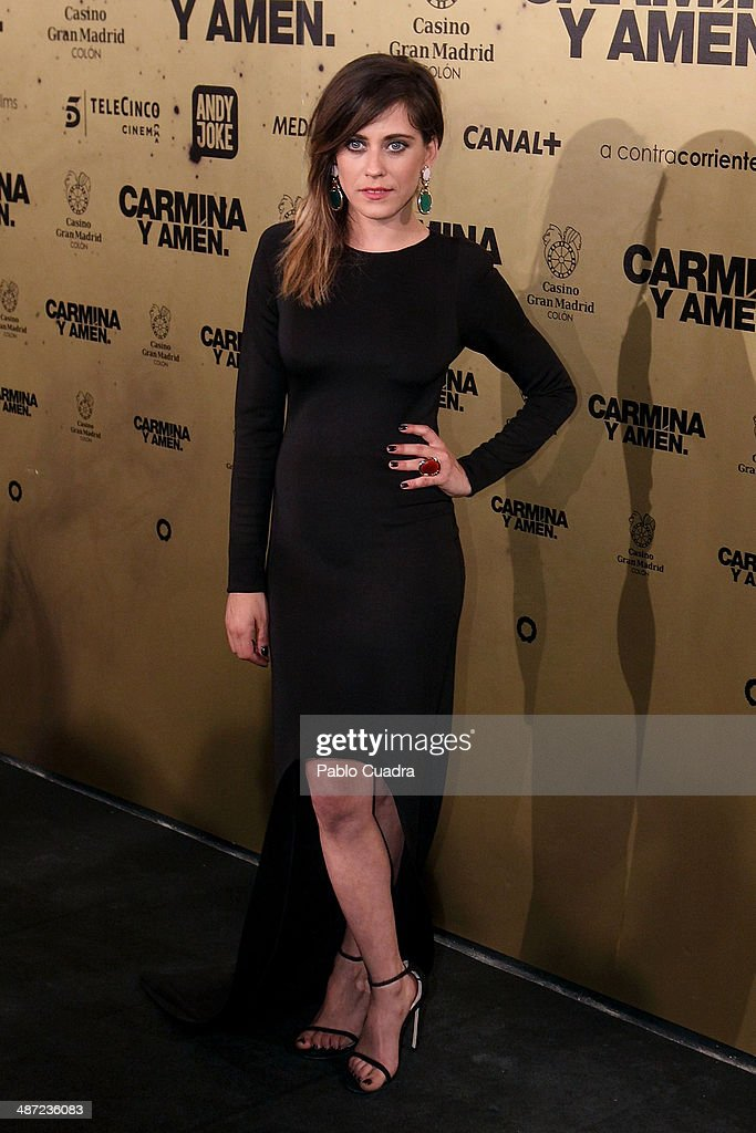 Spanish actress Maria Leon attends the 'Carmina y Amen' premiere at the Callao cinema on April 28, 2014 in Madrid, Spain.