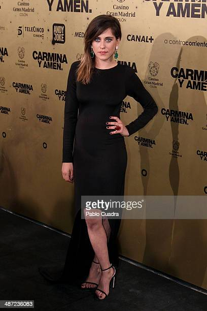 Spanish actress Maria Leon attends the 'Carmina y Amen' premiere at the Callao cinema on April 28 2014 in Madrid Spain