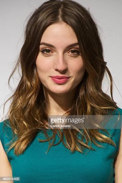 Spanish actress Maria Valverde presents the new Nina Ricci fragance at El Corte Ingles store on December 11 2014 in Madrid Spain