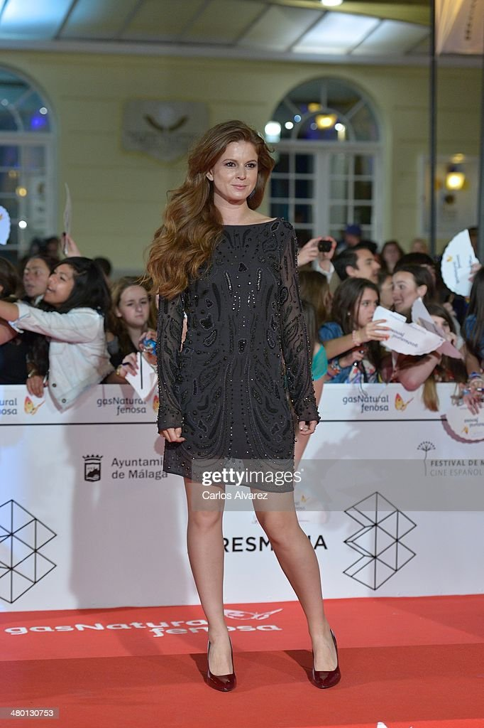 Spanish actress Mariam Aguilera attends the 'Carmina y Amen' premiere during the 17th Malaga Film Festival at the Cervantes Theater on March 22, 2014 in Malaga, Spain.