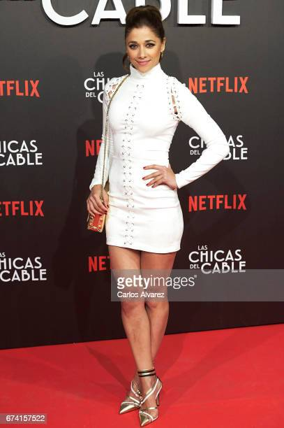 Spanish actress Mariam Hernandez attends 'Las Chicas Del Cable' premiere at the Callao cinema on April 27 2017 in Madrid Spain