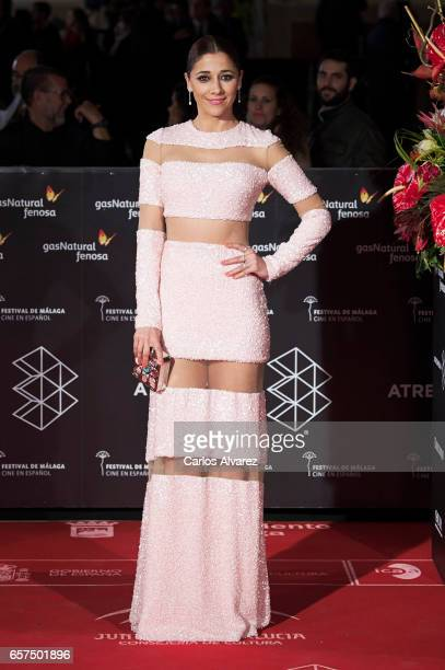 Spanish actress Mariam Hernandez attends the 'Pieles' premiere on day 8 of the 20th Malaga Film Festival at the Cervantes Teather on March 24 2017 in...