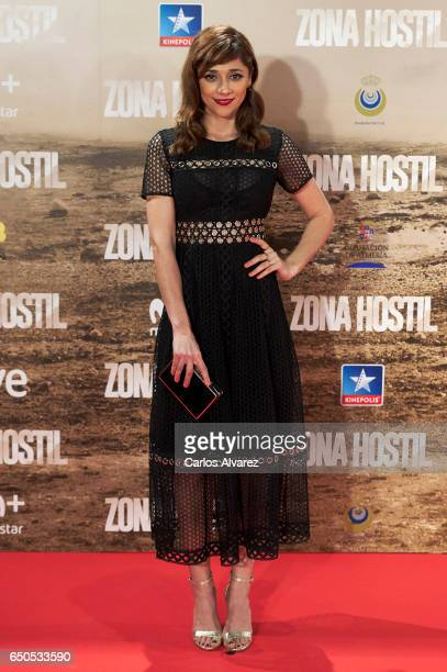 Spanish actress Mariam Hernandez attends 'Zona Hostil' premiere at the Kinepolis cinema on March 9 2017 in Madrid Spain