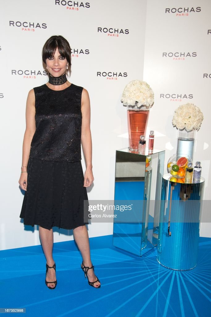 Spanish actress Maribel Verdu attends the Rochas event at the French embassy on April 24, 2013 in Madrid, Spain.
