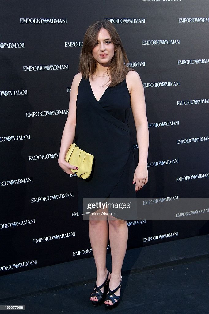 Spanish actress Marina Salas attends the Emporio Armani Boutique opening on April 8, 2013 in Madrid, Spain.