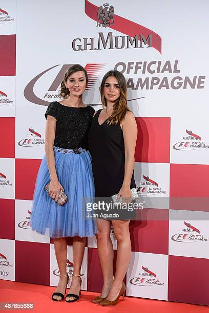 Spanish actress Marina San Jose and Spanish actress Elena Furiase attend G H Mumm Champagne Party at the Fortuny Palace on March 26 2015 in Madrid...