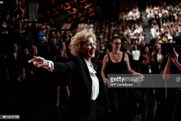 Spanish actress Marisa Paredes arrives for the opening ceremony of the 9th edition of Lumiere film festival on October 14 2017 in Lyon central...
