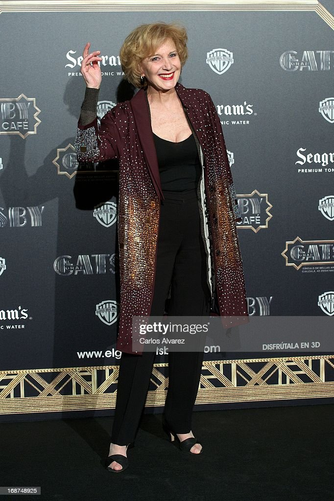 Spanish actress Marisa Paredes attends the 'El Gran Gatsby Cafe' inauguration party at the Circulo de Bellas Artes on May 14, 2013 in Madrid, Spain.