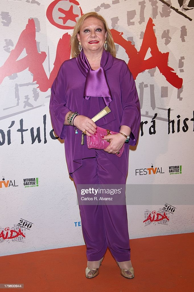 Spanish actress Marisol Ayuso attends the 'Aida' new season red carpet during the day four of 5th FesTVal Television Festival 2013 at the Villa Suso Palace on September 5, 2013 in Vitoria-Gasteiz, Spain.