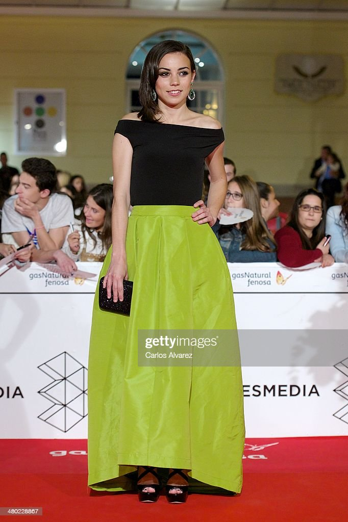 Spanish actress Marta Castellote attends the 'Amor en su Punto' premiere during the 17th Malaga Film Festival at the Cervantes Theater on March 23, 2014 in Malaga, Spain.