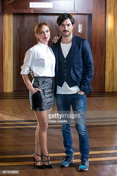 Spanish actress Marta Hazas and actor Javier Rey pose during a photocall to present the 2nd season of 'Velvet' at A3 studios on October 20 2014 in...