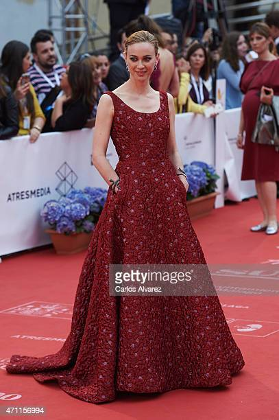 Spanish actress Marta Hazas attends the 18th Malaga Spanish Film Festival close ceremony at the Cervantes Theater on April 25 2015 in Malaga Spain