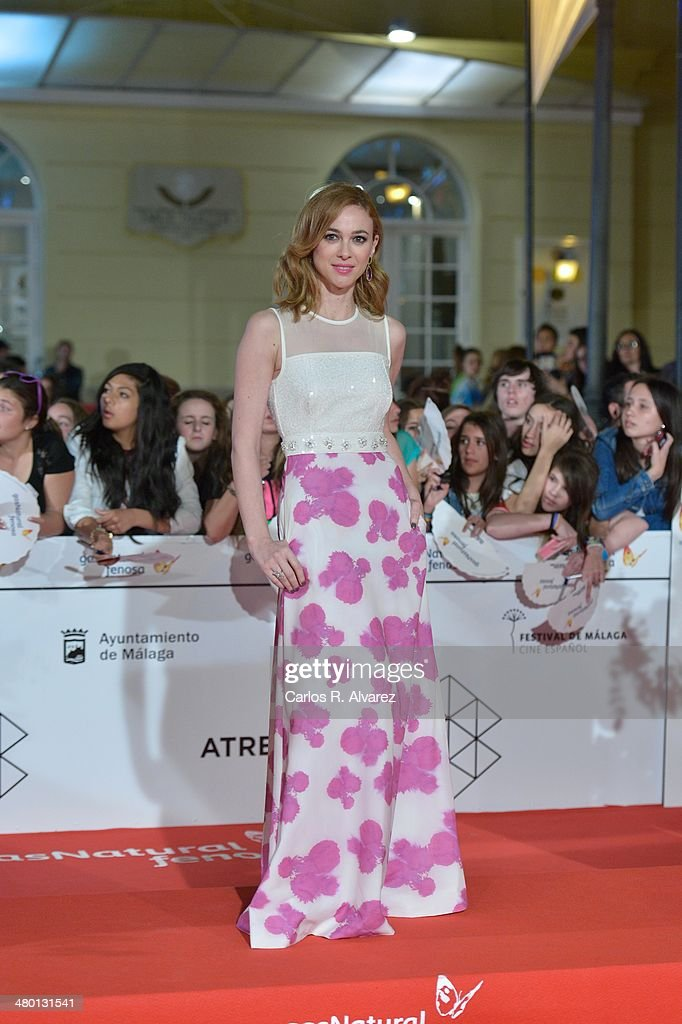 Spanish actress Marta Hazas attends the 'Carmina y Amen' premiere during the 17th Malaga Film Festival at the Cervantes Theater on March 22, 2014 in Malaga, Spain.