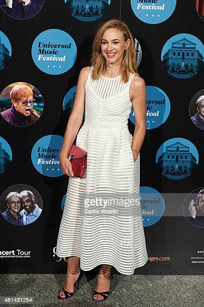 Spanish actress Marta Hazas attends the Elton John concert at the Royal Theater on July 20 2015 in Madrid Spain