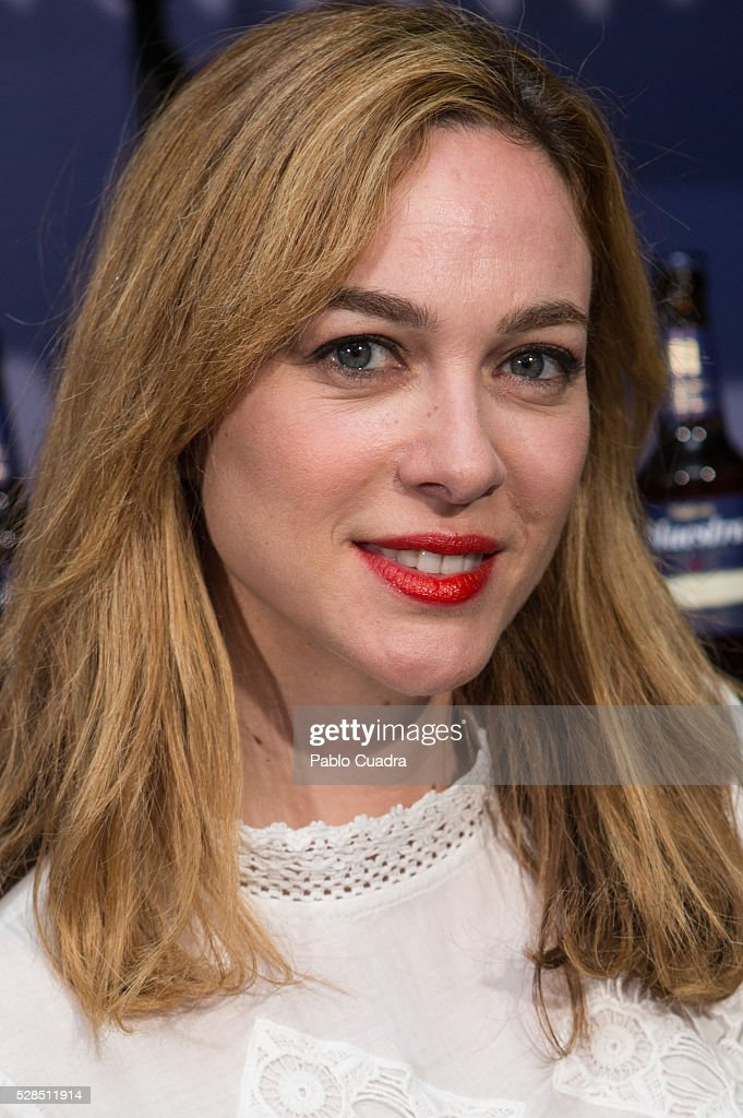 Spanish actress Marta Hazas attends the 'Maestra' beer presentation on May 05, 2016 in Madrid, Spain.