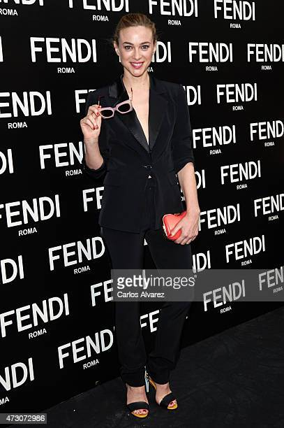 Spanish actress Marta Hazas launches the new Fendi Eyewear Collection at the Villamagna Hotel on May 12 2015 in Madrid Spain