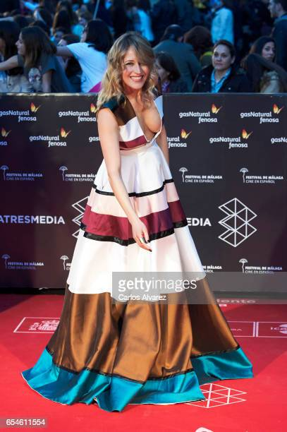 Spanish actress Marta Larralde attends the 20th Malaga Film Festival 2017 opening ceremony at the Cervantes Theater on March 17 2017 in Malaga Spain
