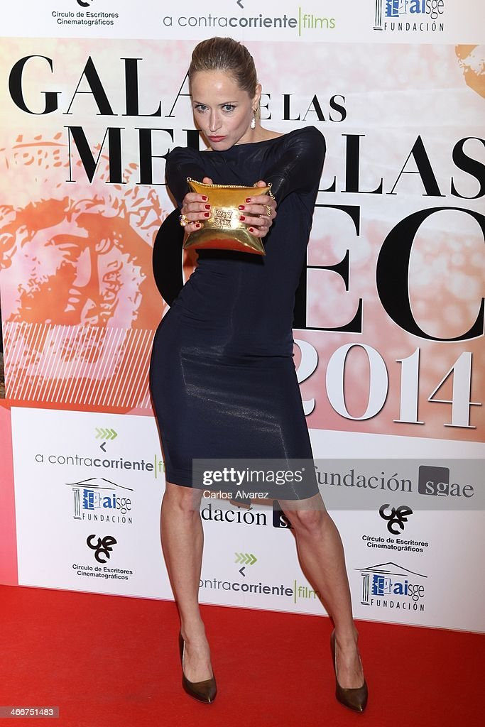 Spanish actress <a gi-track='captionPersonalityLinkClicked' href=/galleries/search?phrase=Marta+Larralde&family=editorial&specificpeople=6868793 ng-click='$event.stopPropagation()'>Marta Larralde</a> attends the 'CEC' medals 2014 at the Palafox cinema on February 3, 2014 in Madrid, Spain.