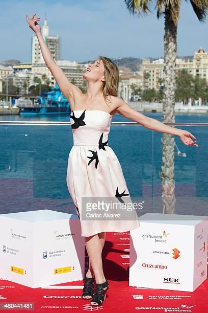 Spanish actress Marta Larralde attends the 'El Oro del Tiempo' photocall during the 17th Malaga Film Festival 2014 Day 5 on March 25 2014 in Malaga...