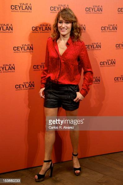 Spanish actress Marta Larralde attends the 'Viaje A Ceylan' parfum presentation by Adolfo Dominguez on October 10 2012 in Madrid Spain