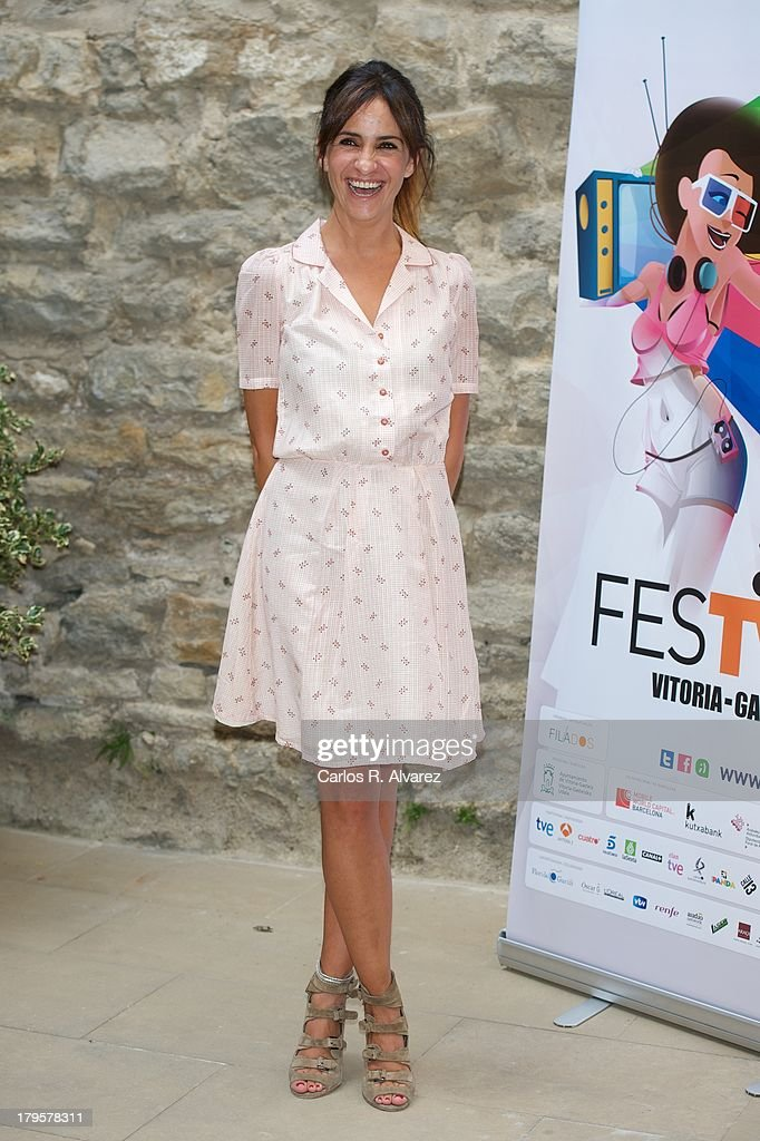 Spanish actress Melani Olivares attends the 'Aida' new season presentation during the day four of 5th FesTVal Television Festival 2013 at the Villa Suso Palace on September 5, 2013 in Vitoria-Gasteiz, Spain.