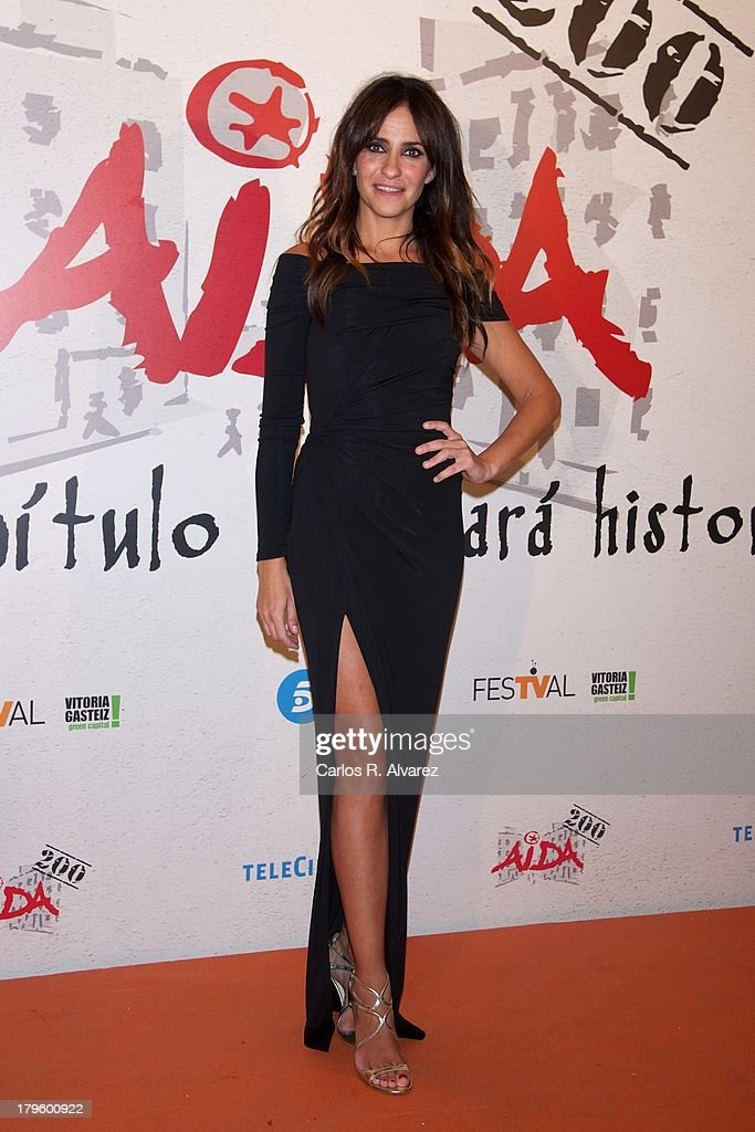Spanish actress Melani Olivares attends the 'Aida' new season red carpet during the day four of 5th FesTVal Television Festival 2013 at the Villa Suso Palace on September 5, 2013 in Vitoria-Gasteiz, Spain.