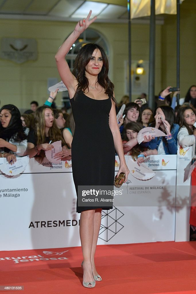Spanish actress Melanie Olivares attends the 'Carmina y Amen' premiere during the 17th Malaga Film Festival on March 22, 2014 in Malaga, Spain.