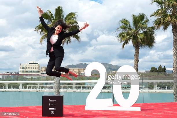 Spanish actress Melina Matthews attends the 'El Jugador de Ajedrez' photocall on day 8 of the 20th Malaga Film Festival on March 24 2017 in Malaga...