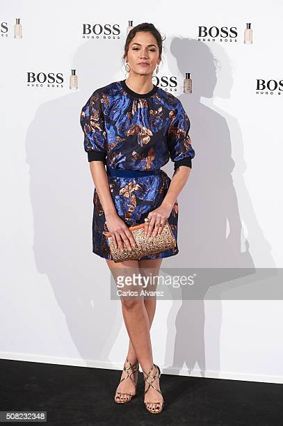 Spanish actress Michelle Calvo attends Hugo Boss 'Man Of Today' presentation at the NH Eurobuilding Hotel on February 3 2016 in Madrid Spain