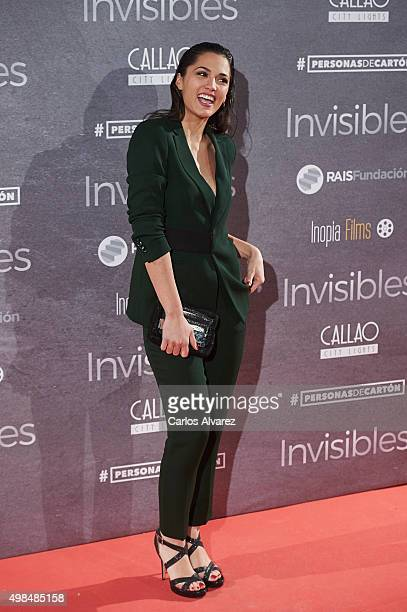 Spanish actress Michelle Calvo attends the 'Invisibles' charity premiere at the Callao cinema on November 23 2015 in Madrid Spain