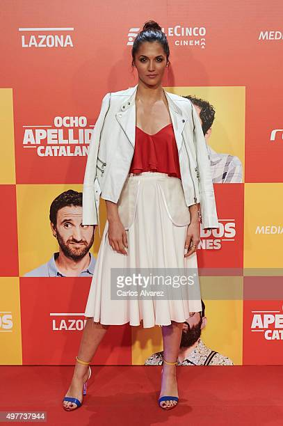 Spanish actress Michelle Calvo attends the 'Ocho Apellidos Catalanes' premiere at the Capitol cinema on November 18 2015 in Madrid Spain