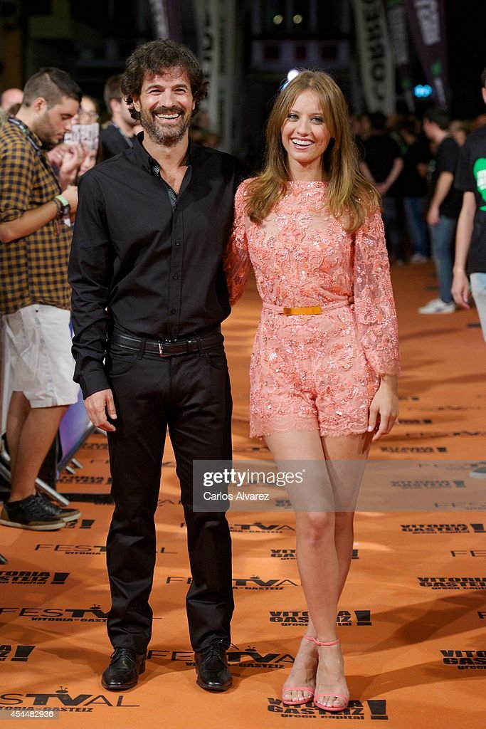 Spanish actress <a gi-track='captionPersonalityLinkClicked' href=/galleries/search?phrase=Michelle+Jenner&family=editorial&specificpeople=4388105 ng-click='$event.stopPropagation()'>Michelle Jenner</a> and Spanish actor <a gi-track='captionPersonalityLinkClicked' href=/galleries/search?phrase=Rodolfo+Sancho&family=editorial&specificpeople=5717157 ng-click='$event.stopPropagation()'>Rodolfo Sancho</a> attend 'Isabel' 3th season premiere at the Principal Theater during the FesTVal 2014 day 1 on September 1, 2014 in Vitoria-Gasteiz, Spain.