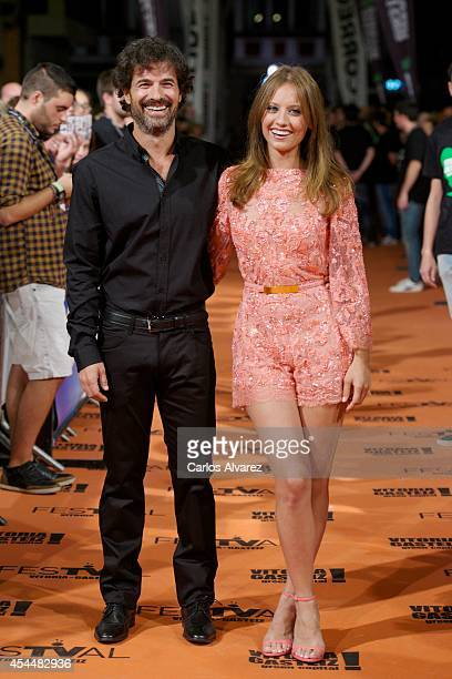 Spanish actress Michelle Jenner and Spanish actor Rodolfo Sancho attend 'Isabel' 3th season premiere at the Principal Theater during the FesTVal 2014...