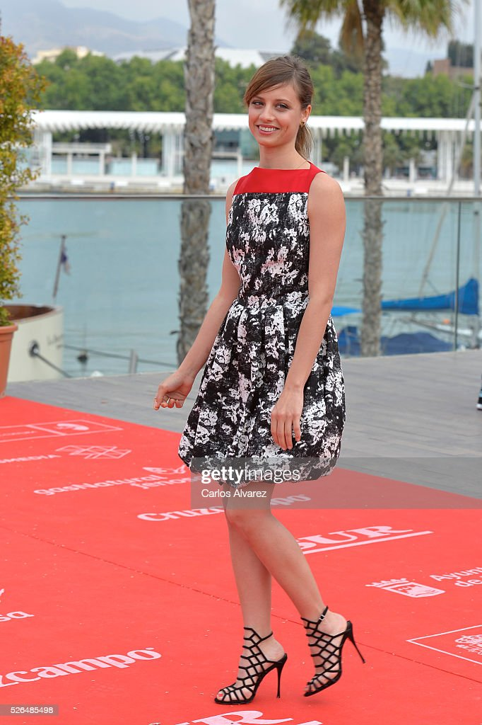 Spanish actress <a gi-track='captionPersonalityLinkClicked' href=/galleries/search?phrase=Michelle+Jenner&family=editorial&specificpeople=4388105 ng-click='$event.stopPropagation()'>Michelle Jenner</a> attends 'Nuestros Amantes' photocall during the 19th Malaga Film Festival on April 30, 2016 in Malaga, Spain.