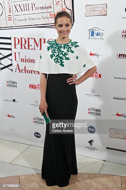 Spanish actress Michelle Jenner attends the 23th Union de Actores awards at the Coliseum Theater on March 10 2014 in Madrid Spain