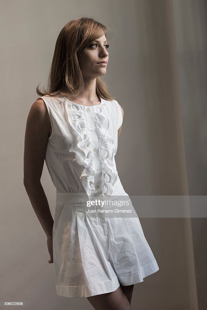 Spanish actress Michelle Jenner poses during a portrait session during promotion of the film 'Nuestros Amantes' on May 31, 2016 in Madrid, Spain.