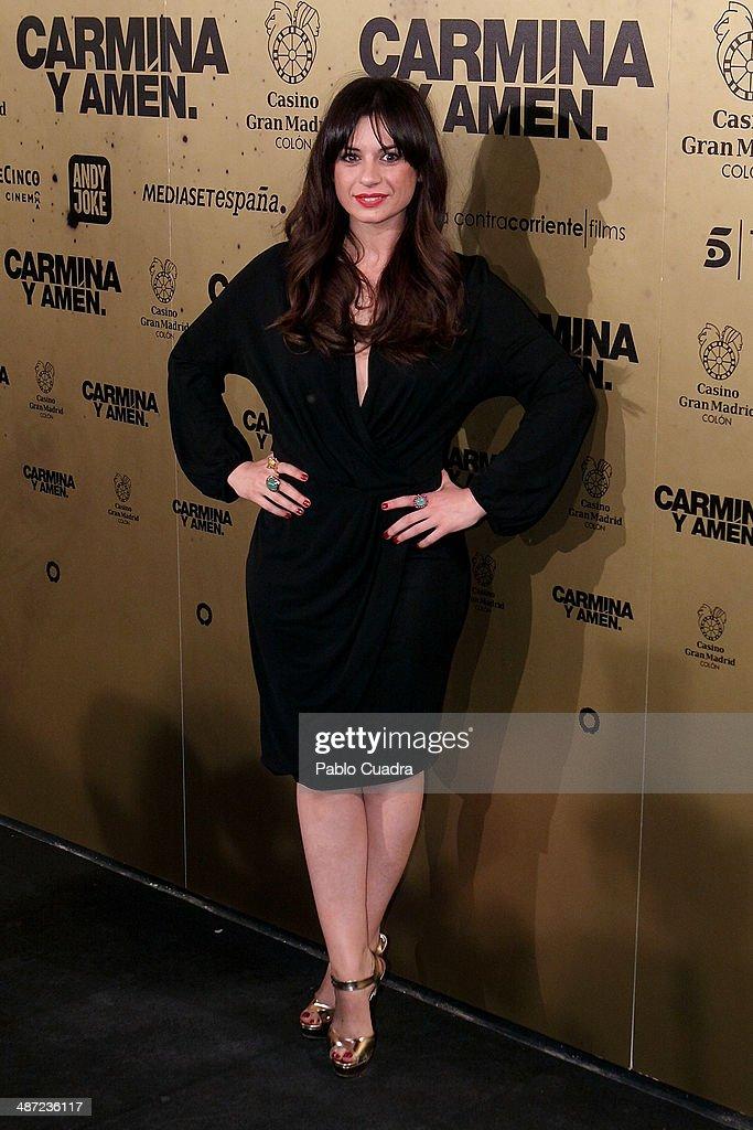 Spanish actress Miren Ibarguren attends 'Carmina Y Amen' Premiere on April 28, 2014 in Madrid, Spain.
