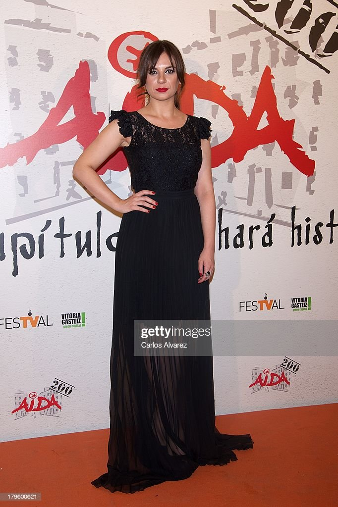 Spanish actress Miren Ibarguren attends the 'Aida' new season red carpet during the day four of 5th FesTVal Television Festival 2013 at the Villa Suso Palace on September 5, 2013 in Vitoria-Gasteiz, Spain.