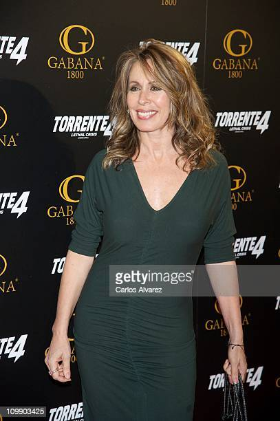Spanish actress Miriam Diaz Aroca attends 'Torrente 4' premiere at the Capitol cinema on March 9 2011 in Madrid Spain