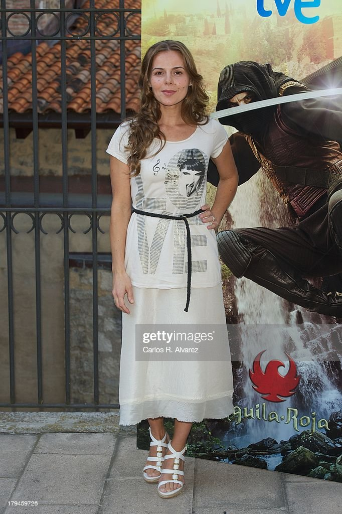 Spanish actress Miriam Gallego attends the 'Aguila Roja' new season presentation during the day three of 5th FesTVal Television Festival 2013 at the Villa Suso Palace on September 4, 2013 in Vitoria-Gasteiz, Spain.